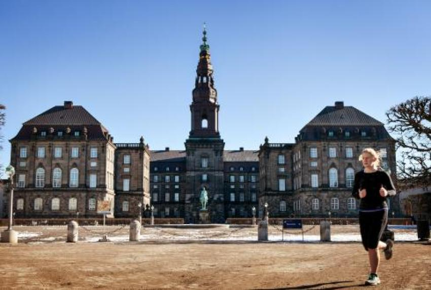 Outside Christiansborg - Denmark's parliamentary building