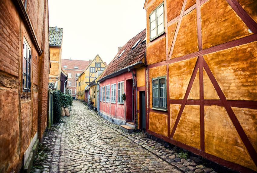 The old streets in Helsingør
